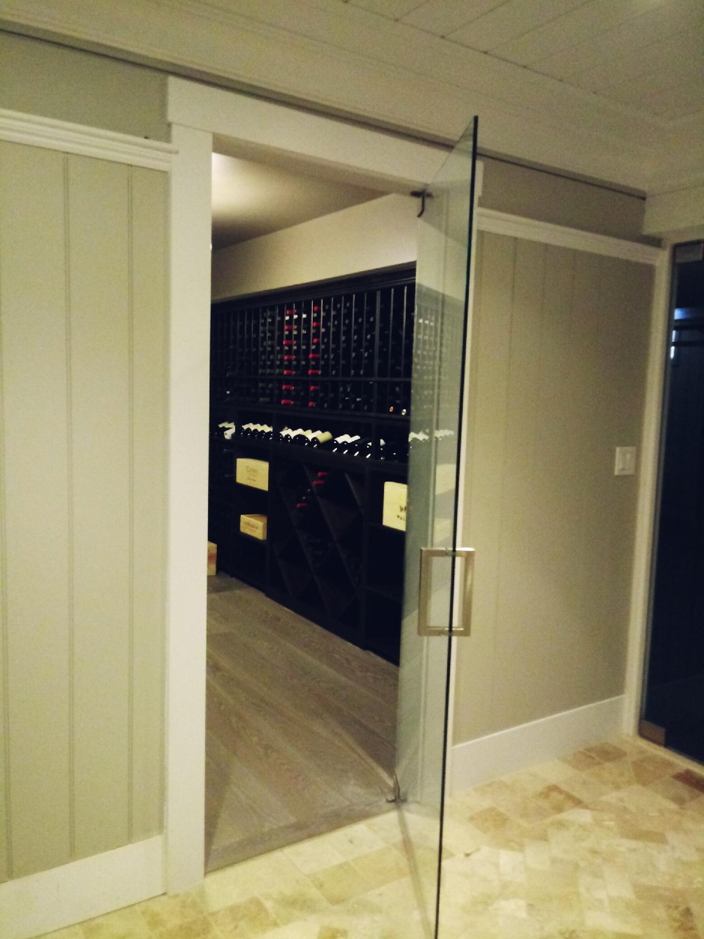 Frameless Door for Wine Cellar Open
