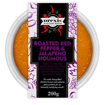 Roasted Red Pepper & jalapeno Houmous -200g