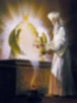 Grand Prêtre dans le Saint des Saints du Temple de Jérusalem