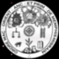 Sceau de l'Ordre Maçonnique Oriental de Memphis-Misraïm du 1er grade du Rite de la Haute Maçonnerie Egyptienne de Caglisotro