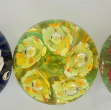 Three St Clair style paperweights