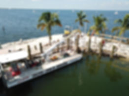 Barge by Hurricane Boat Lifts South - Largo Marine Supply