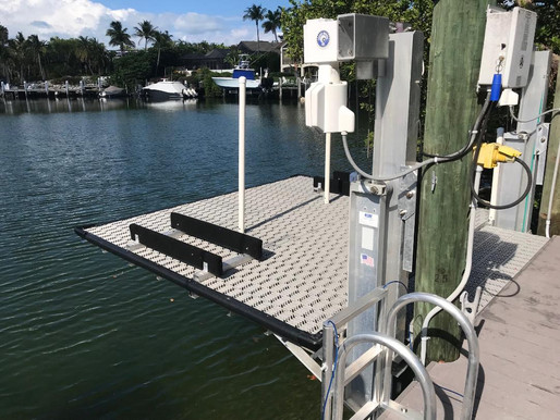 Have a Boat Lift, but No Boat?   Why Not Turn Your Unused Lift into a Waterside Fun Pad!