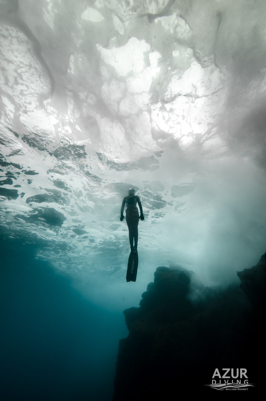Alice Modolo rising to the surface