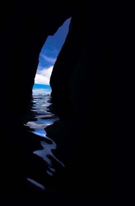 Watery cave