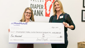 Junior League of Champlain Valley Receives  $10,000 MassMutual Foundation Grant for Diaper Bank