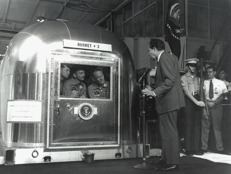 President Nixon Greets
