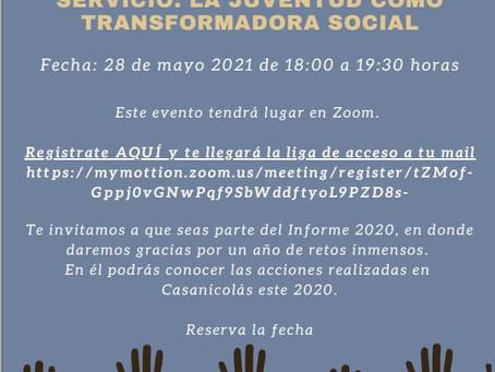 Invitación al Informe de Casanicolás 2020