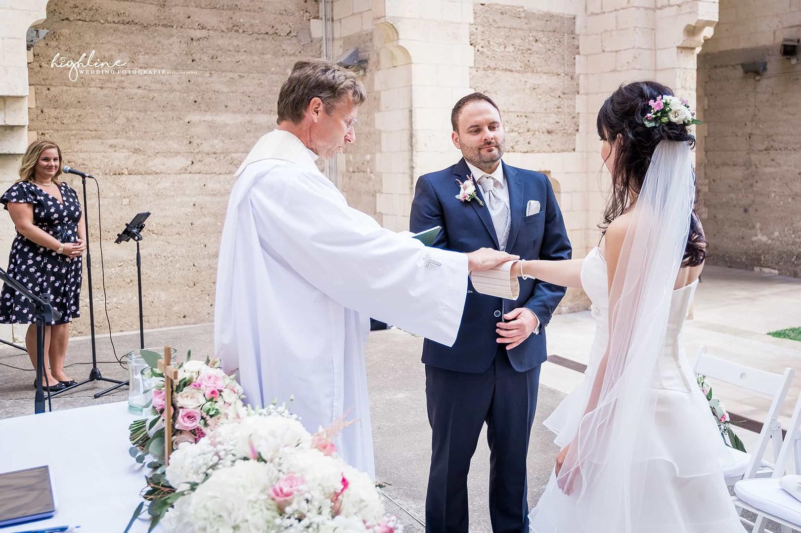 Ehegelöbnis bei Trauung in Mallorca