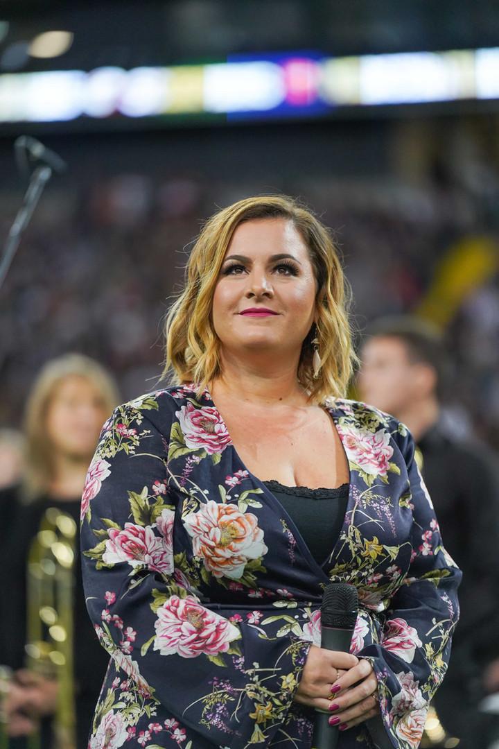 Nora Brandeburger beim German Football Finale