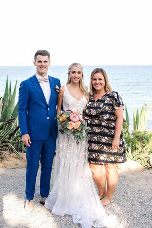 Hochzeitspaar mit Nora Brandenburger
