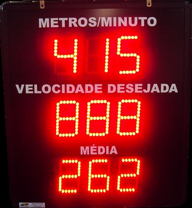 """IND-0249 INDICADOR DE PRODUÇÃO META E REALIZADO 4"""" POLEGADAS 24 V"""
