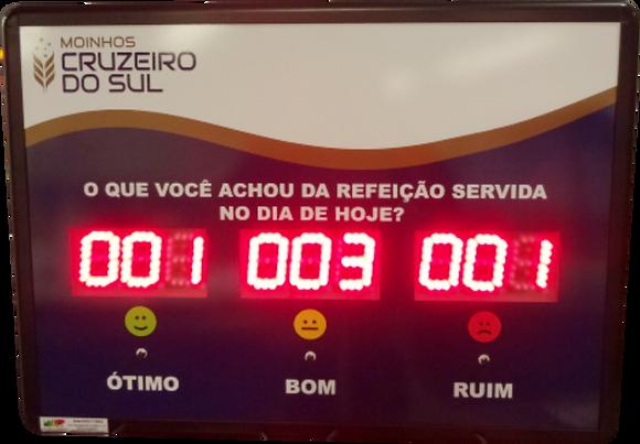 """IND-0061 INDICADOR DE SATISFAÇÃO 2,3"""" POLEGADAS 3 OPÇÕES"""