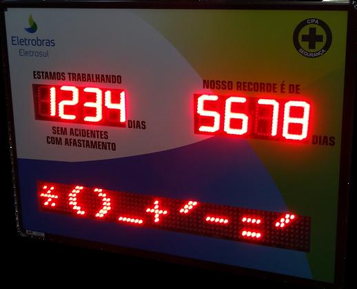 """IND-0314 INDICADOR DE CIPA 4"""" POLEGADAS COM PMV (1,19 METRO)"""