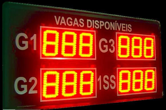 IND-0904W INDICADOR DE VAGAS DISPONÍVEIS