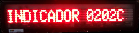IND-0202C - INDICADOR DE PRODUÇÃO ALFANUMÉRICO ETHERNET/UDP WI-FI