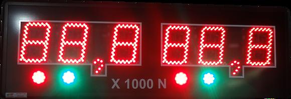 "IND-0294 INDICADOR NUMÉRICO 6"" POL. SERIAL RS485"