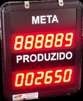 IND-0308 INDICADOR DE PRODUÇÃO META E REALIZADO 1,5 POL. CONTATO SECO