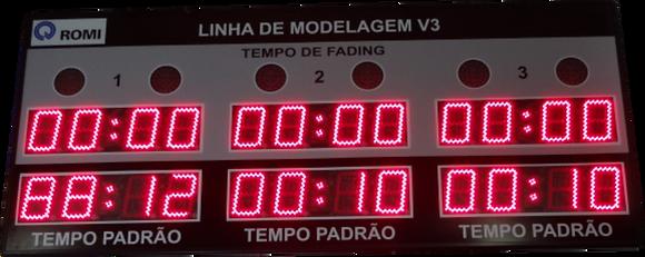"""IND-0326 INDICADOR CRONÔMETRO 3 MÓDULOS 6"""" POLEGADAS"""