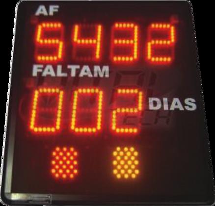 """CON-0704S INDICADOR CONTADOR DE DIAS 4"""" POLEGADAS COM SINALIZADOR"""