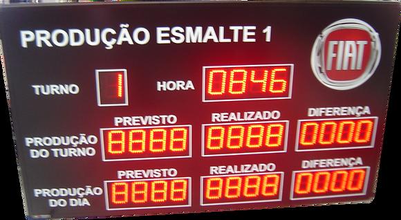 """IND-0023 INDICADOR DE PRODUÇÃO ANDON 4"""" POLEGADAS"""