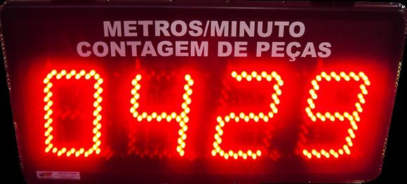 """IND-0298B INDICADOR DE PRODUÇÃO 04 DÍGITOS 6"""" POLEGADAS NPN / PNP"""