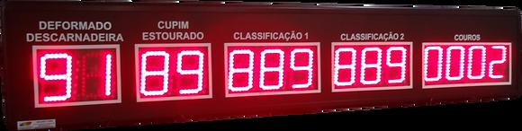 """IND-0330 INDICADOR DE PRODUÇÃO COUROS 5 CAMPOS 4"""" POLEGADAS"""