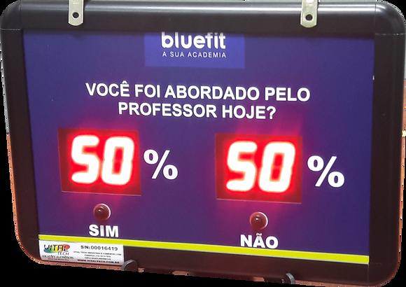 """IND-0266 INDICADOR DE SATISFAÇÃO 1,5"""" POLEGADAS 2 OPÇÕES"""
