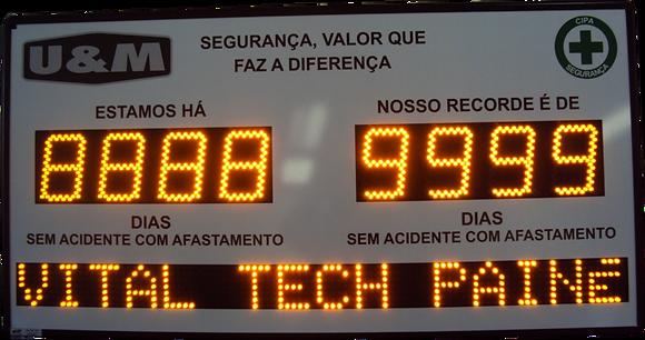 """IND-0014 INDICADOR DE CIPA 6"""" POLEGADAS COM PMV USB (1,55 METRO)"""