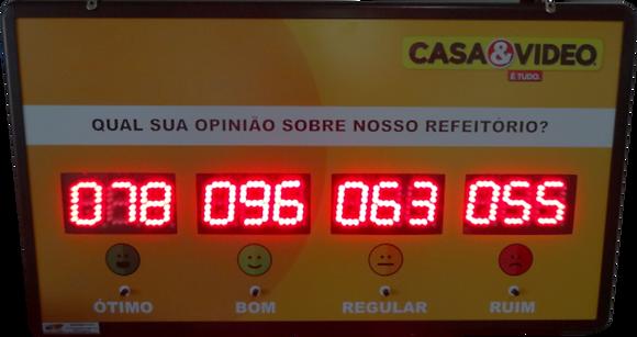 """IND-0325 INDICADOR DE SATISFAÇÃO 2,3"""" POLEGADAS 4 OPÇÕES"""