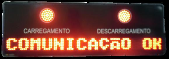 IND-0010 INDICADOR ALFANUMÉRICO COM SINALIZADOR CARREGAMENTO / DESCARREGAMENTO