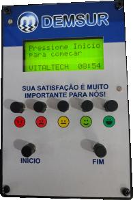 IND-0085 INDICADOR TECLADO DE SATISFAÇÃO 5 BOTÕES (5 PERGUNTAS)