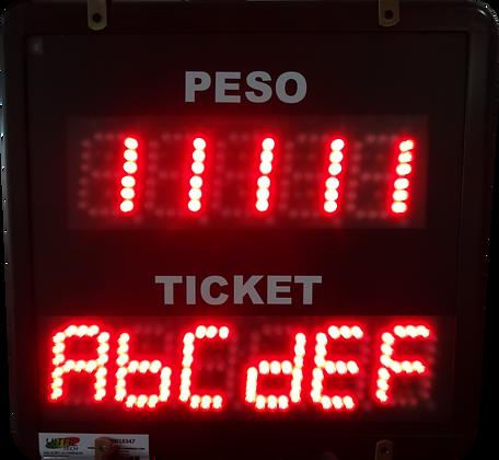 """IND-0362 INDICADOR NUMÉRICO 2,3"""" POLEGADAS SERIAL RS232 ASCII"""