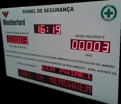 """IND-0011 INDICADOR DE CIPA 6"""" POLEGADAS COM PMV E RELÓGIO"""