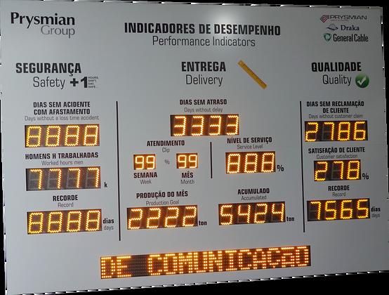 """IND-0344 INDICADOR PAINEL CIPA ESPECIAL 6"""" E 4"""" POLEGADAS COM PMV ETHERNET"""