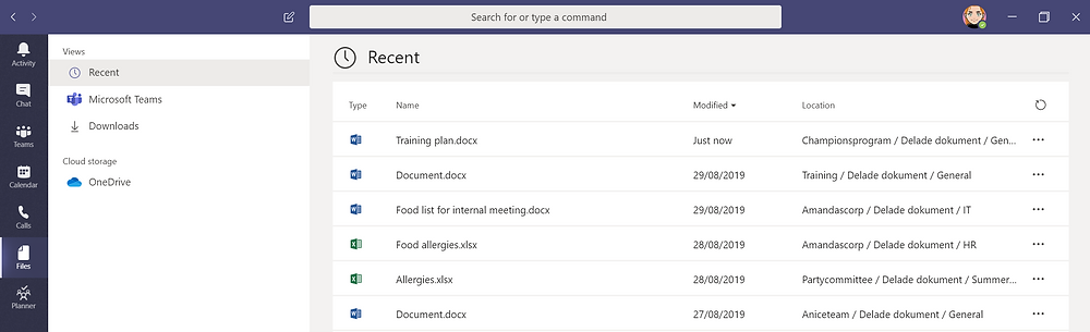Files in Microsoft Teams