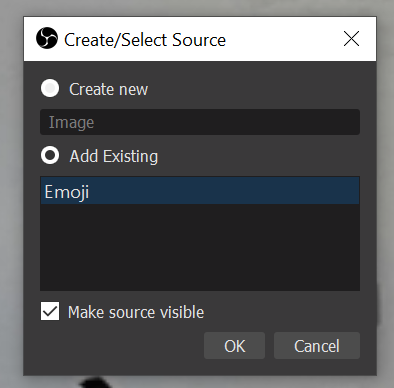 Add existing image