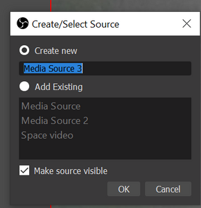 Create a new media source