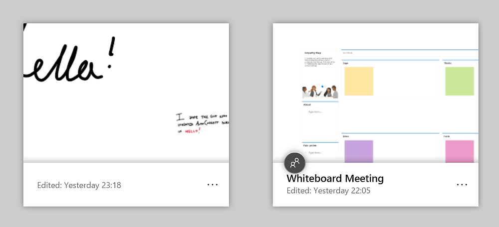 See if a whiteboard is shared or not