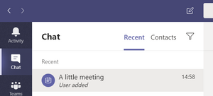 All private meetings in Microsoft Teams
