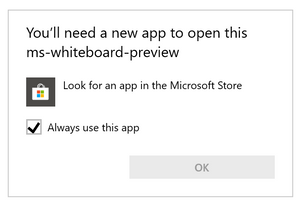 Prompted to download desktop app