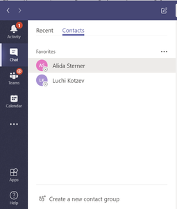 Adding contacts into groups