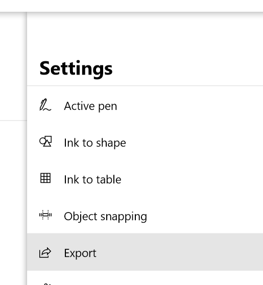 Export a whiteboard