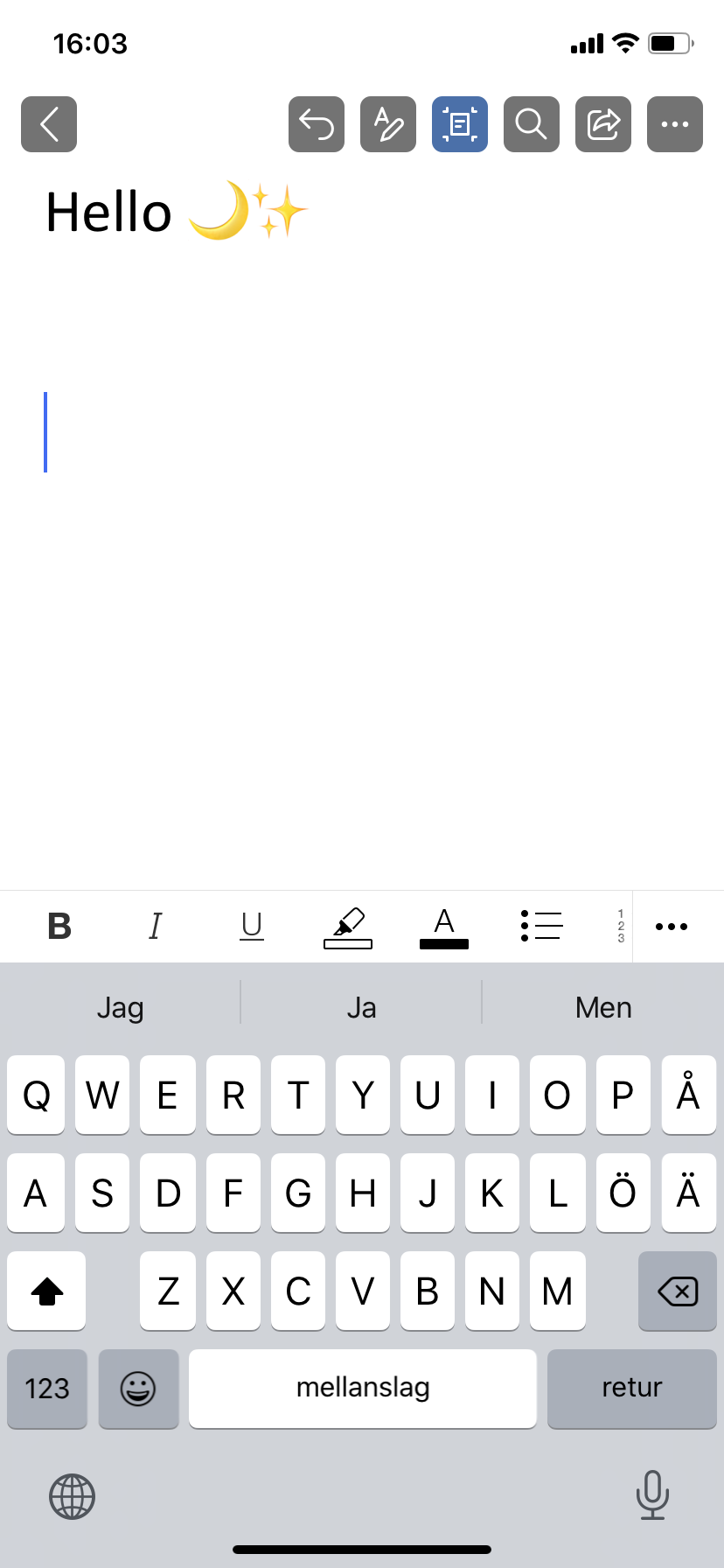 Edit a file in the Office app