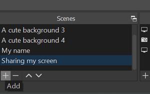Add a new scene