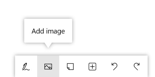 Button for adding an image