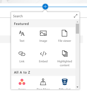 Webparts on a SharePoint page