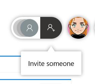 Invite someone to a whiteboard