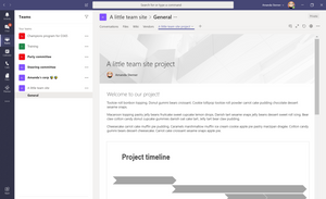 A SharePoint page in Microsoft Teams