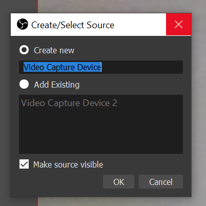 Create/select source